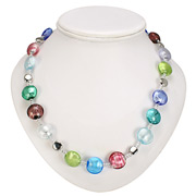 Antica Murrina - Frida Silver Multicoloured Murano Necklace