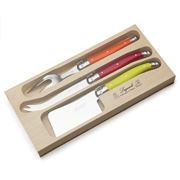 Laguiole - Debutante Multicoloured Cheese Set 3pce