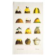 Rodriquez - Jam Tales Christmas Puddings Tea Towel