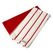 Davis & Waddell - Premium Waffle Tea Towel Set Red 2pce