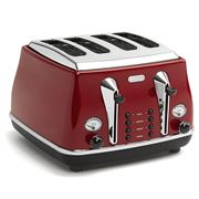 DeLonghi - Icona Toaster Red Four Slice