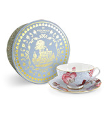 Wedgwood - Cuckoo Teacup and Saucer Set Blue 2pce