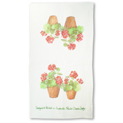 Susie Crooke - Geraniums Tea Towel