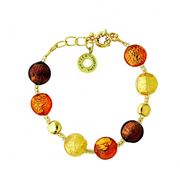 Antica Murrina - Frida Gold Amber Murano Bracelet