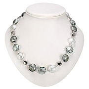 Antica Murrina - Frida Silver Grey Murano Necklace