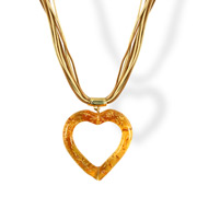 Antica Murrina - Eros Murano Glass Necklace Amber