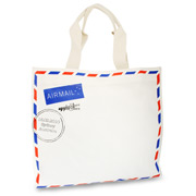 Apple & Bee - Air Mail Canvas Tote Bag