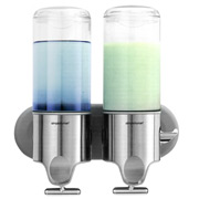 Simplehuman - Twin Shampoo and Soap Dispensers