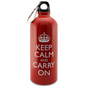 Wild & Wolf - Keep Calm and Carry On Water Bottle