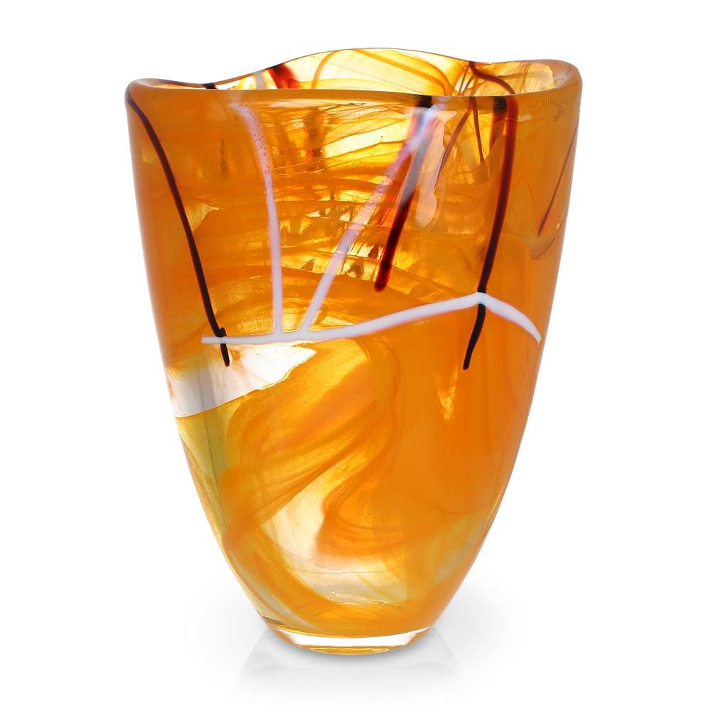Kosta Boda Contrast Vase Orange