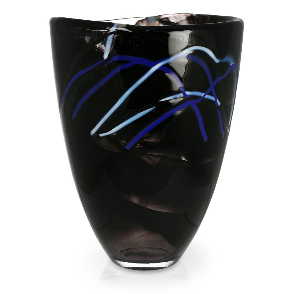 Kosta Boda Contrast Vase Black Peter S Of Kensington