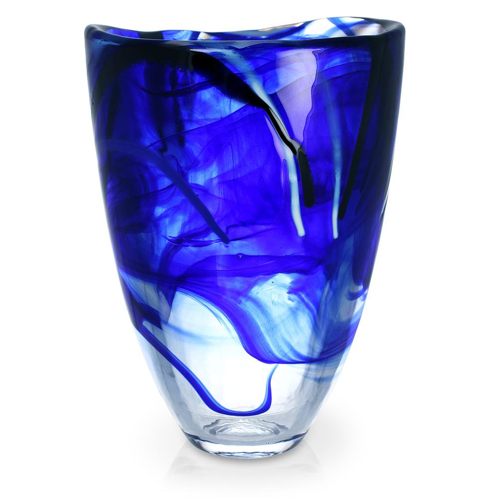 Kosta Boda Contrast Vase Blue Peters Of Kensington