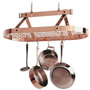 Enclume - Premier Copper Oval Pot Rack w/ Grid