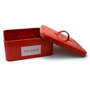 Retro Kitchen - Tea Bag Caddy Red
