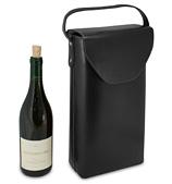 Carlo Rossini - Tall Twin Bottle Wine Carry Bag Black