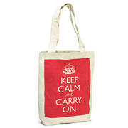 Wild & Wolf - Keep Calm and Carry On Tote Bag