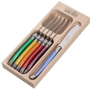 Laguiole - Debutante Multicoloured Butter Knife Set 6pce