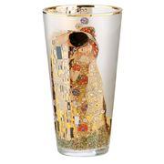 Goebel - Gustav Klimt Artis Orbis 'The Kiss' Glass Vase 20cm