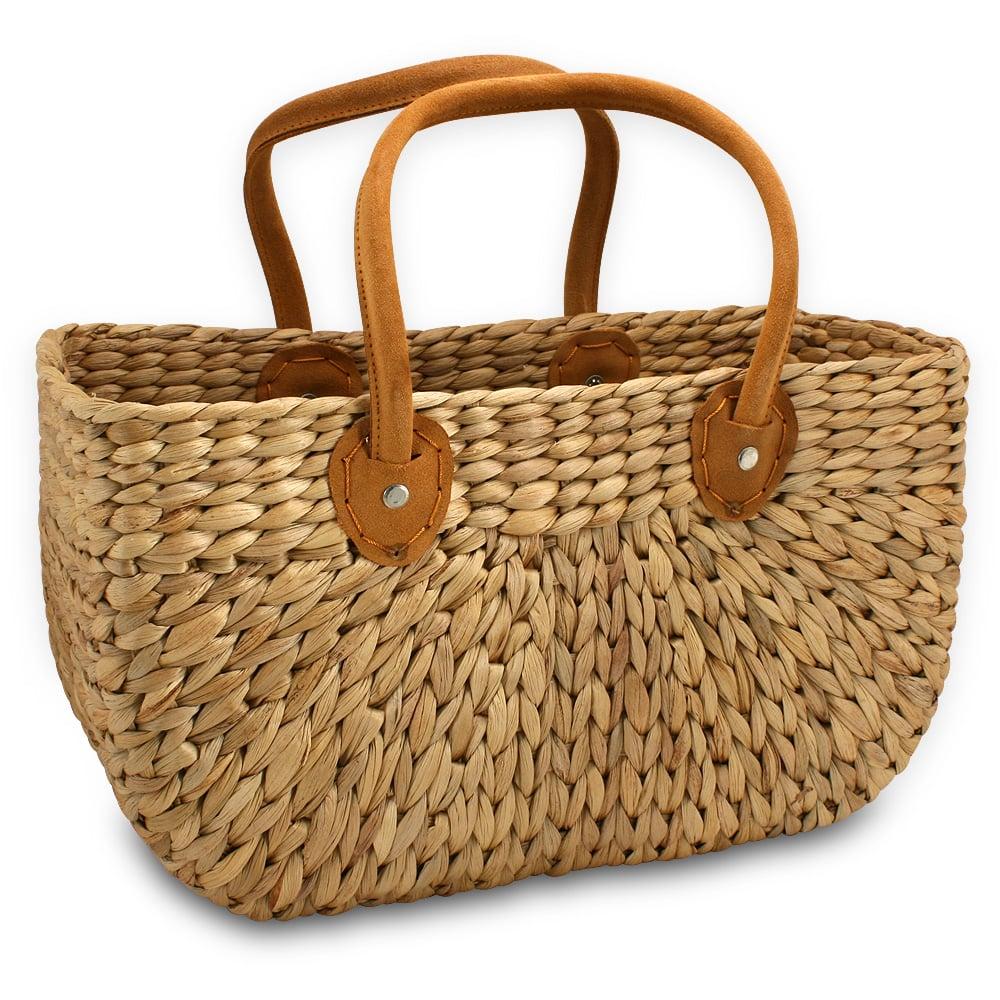 Robert Gordon Woven Market Basket Bag Round Medium