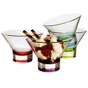 Bormioli Rocco - Ypsilon Multicolour Ice Cream Bowl Set 4pce