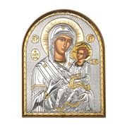 Clarte Icon - Holy Virgin Mary Lady Healer in Gold 12x15cm