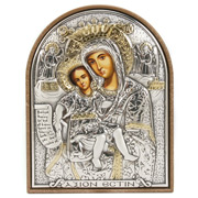 Clarte Icon - Axion Esti Holy Virgin Mary Gold 7cm