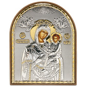 Clarte Icon - Holy Virgin Mary Quick Listening Gold 10.5cm