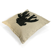CAM - Icon Coral Cushion Cover Black