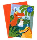 PK Press - Scratch & Sniff Card Dinosaur Birthday