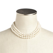 Carolee - Style Icons Jackie O Three Row Pearl Necklace