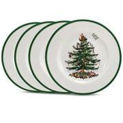 Spode - Christmas Tree Dinner Plate Set 4pce