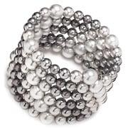 Carolee - Silver Ticket Pearl Coil Bracelet