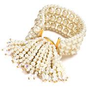 Carolee - Lux Persian Gardens Floral Stretch Bracelet