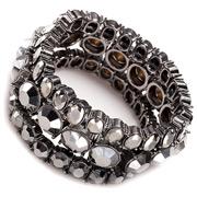 Carolee - Lux Shimmer Hematite Stretch Bracelets Set 3pce