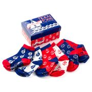 Tippy Toes - Sailor Boy Baby Sock Set 6pce