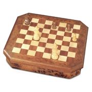 Agresti - Chess/Checkers Set Natural Briarwood