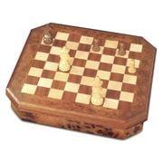 Agresti - Chess/Checkers Set Natural Briarwood