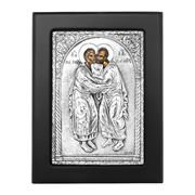 Clarte Icon - St Peter And Paul in Black Frame 11x13cm