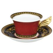 Rosenthal - Versace Medusa Red Teacup & Saucer Set