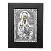 Clarte Icon - St Gerasimos in Black Frame 12x15cm