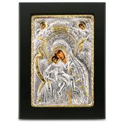 Clarte Icon - Axion Esti Holy Virgin Mary Gold 14x19cm