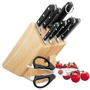 Mundial - Bonza Black Knife Block Set 9pce