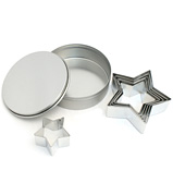 D Line - Christmas Cookie Cutter Star Set with Tin 6pce