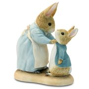 Beatrix Potter - Mrs Rabbit & Peter Mini Figurine