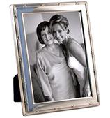 Whitehill - S/Slvr Lustre Frame Reed & Rbn 13x18cm