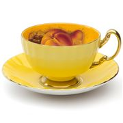 Aynsley - Orchard Gold Oban Teacup & Saucer Yellow