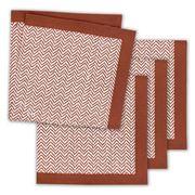 Linen & Moore - Dali Brick Herringbone Napkin Set 4pce