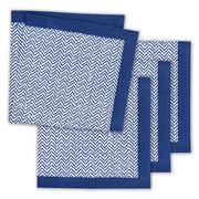 Linen & Moore - Dali Blue Herringbone Napkin Set 4pce