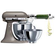 KitchenAid - Artisan KSM160 Cocoa Silver Mixer w/ Spiraliser