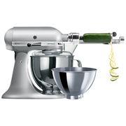 KitchenAid - Artisan KSM160 Cont Silver Mixer w/ Spiraliser